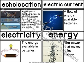 Physics of Sound Picture Word Wall SMALL