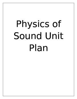 Physics of Sound Unit Plan