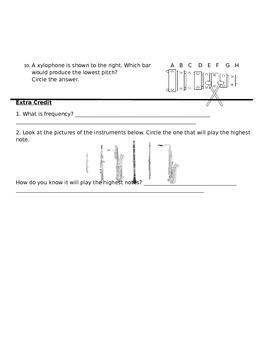 Physics of Sound quiz/test