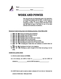 Physics work and power