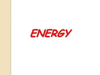SALE . . . $8.50 . . . Physics...Energy  14-PAGES and 1-WE