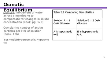 Physiology Chapter 5: Membrane Dynamics