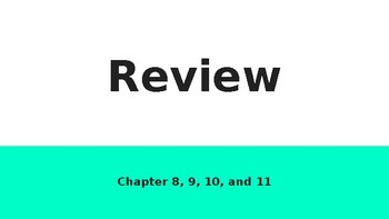 Physiology Review Unit 2: Chapters 8 - 11