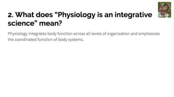 Physiology Unit 1 Review Introductory Unit Chapters 1 - 6