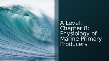 Physiology of Marine Primary Producers: AICE Marine Science Chapter 8