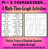 Pi - 4 Math-Then-Graph Activities - Finding Vertices