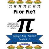 Pi Day Free ELA Word Work and Writing