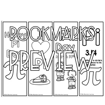 Pi Day Bookmarks