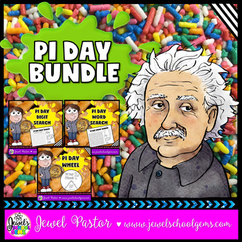 Pi Day Activities BUNDLE (Word Search, Digit Search and Craft)