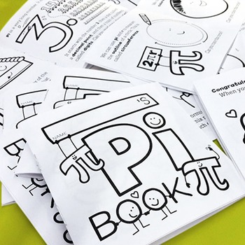 Pi Day (3.14) Coloring Book