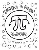 Pi Day (3.14) Coloring Page