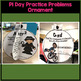 Pi Day Activity for Middle School 3D Ornaments Craftivity