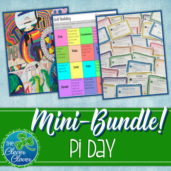 Pi Day Activities - Notes, Worksheets, Task Cards and an Assessment