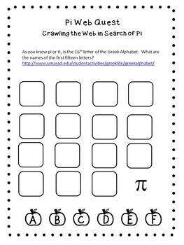 Pi Day Activities Interactive Web Quest For Google Drive