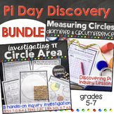 Pi Day Activities - Measuring Circles Diameter, Circumfere