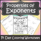 Pi Day Activities for High School {Pi Day Activities} {Exponent Rules Worksheet}