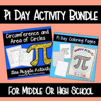 Pi Day Activities for Middle School - Bundle