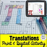 Geometry Transformations (Translations) Mystery Picture Activity-  PDF + Digital