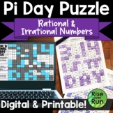Pi Day Puzzle Activity for Rational & Irrational Numbers, Digital & Paper
