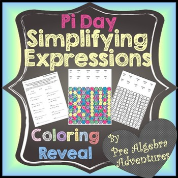 Simplifying Expressions Review {Simplifying Expressions Coloring Riddle}