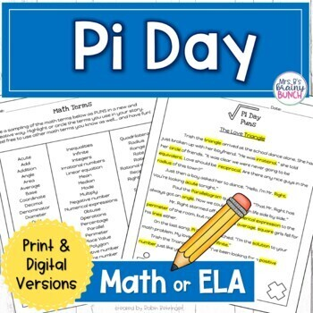 Pi Day Activity for Middle School by Mrs B's Brainy Bunch | TpT