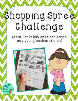 Pi Day Addition Shopping Challenge