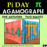 Pi Day Agamograph Art Activity