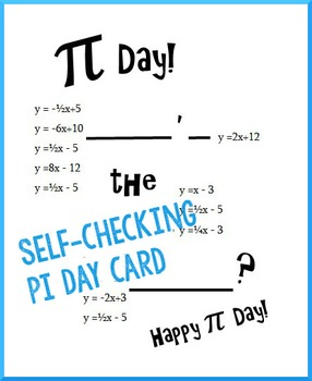 Pi Day Algebra - Covert to Slope Intercept Form