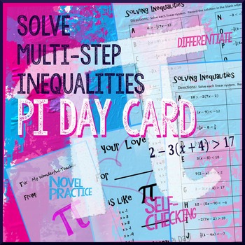 Pi Day Algebra -- Solve Inequalities