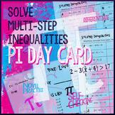 Pi Day Algebra -- Solve Inequalities