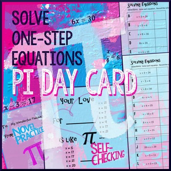 Pi Day Algebra – Solve One-step Equations (Whole Numbers only) | TpT