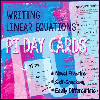 Pi Day Algebra - Write Linear Equations in Slope Intercept Form