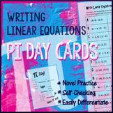 Pi Day Algebra - Write Linear Equations in Slope Intercept Form