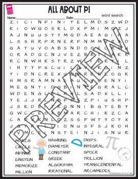 Pi Day All About Pi Crossword Puzzle and Word Search Find Activities