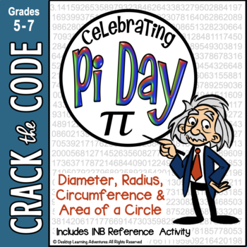 Pi Day: Area & Circumference of a Circle - Crack the Code Math Practice