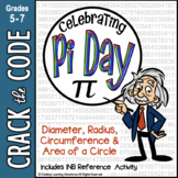 Pi Day Area & Circumference of a Circle - Crack the Code Math Practice
