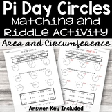 Pi Day Area and Circumference of Circles Riddle Activity