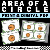 Area of a Circle Task Cards, Pi Day Activities, Geometry Task Cards