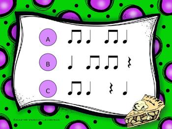 Pi Day--Aural Rhythm Recognition Game {ta titi rest}