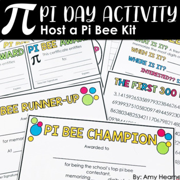 Pi Day Bee: An Exciting Pi Day Activity for Middle School Students