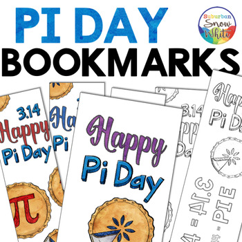 Pi Day Bookmarks ~ Color and black and white coloring pages (FREE)