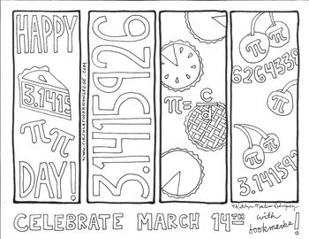 Pi Day Bookmarks & Coloring Sheets