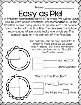 Pi Day Fractions and Area & Circumference