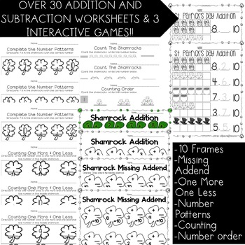 St. Patrick's Day Math Activities Bundle