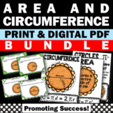 Area and Circumference of a Circle, Geometry Activities, 7th Grade Math Review