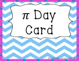 Pi Day Card - FREEBIE