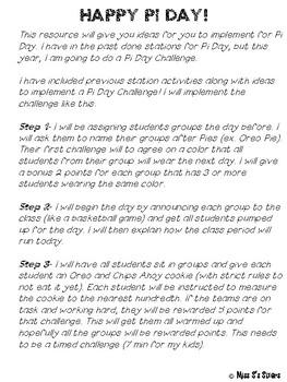 Pi Day Challenge Activities