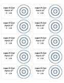 Pi Day Circle Art Celebration Stickers