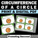Circumference of a Circle Activity, Geometry Task Cards