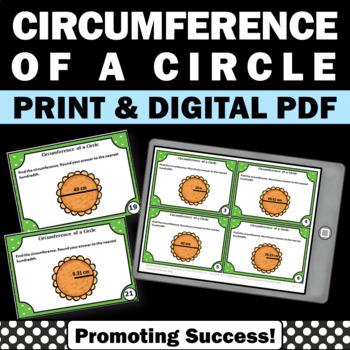 Circumference of a Circle Using Radius and Diameter Geomet